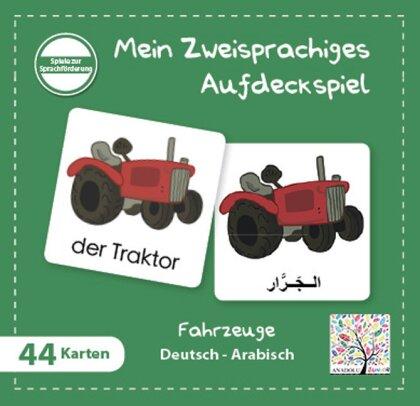 Mein Zweisprachiges Aufdeckspiel, Fahrzeuge - Arabisch (Kinderspiel)