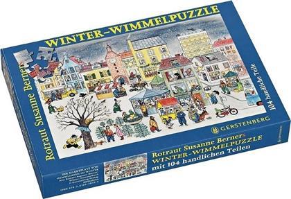 Winter - 104 Teile Wimmel-Puzzle