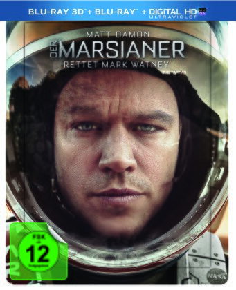 Der Marsianer - Rettet Mark Watney (2015) (Lenticular, Limited Edition, Steelbook, Blu-ray 3D + Blu-ray)