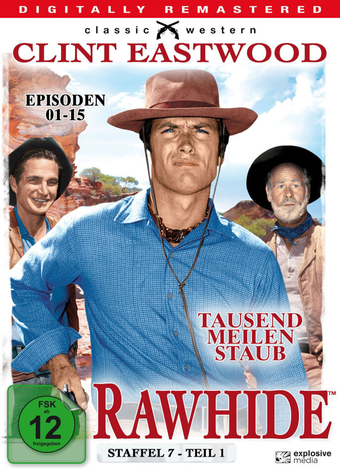 Rawhide - Staffel 7.1 (Classic Western, Remastered, 4 DVDs)