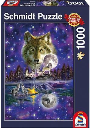 Wolf im Mondlicht - 1000 Teile Puzzle