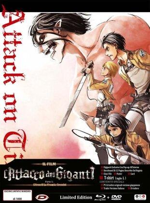 L'attacco dei giganti - Il film - Parte I - L'arco e la freccia cremisi (con T-Shirt) (2014) (Edizione Limitata, Blu-ray + DVD)