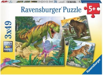 Herrscher der Urzeit - 3x49 Teile Puzzles