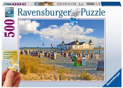 Strandkörbe in Ahlbeck, Ostsee - Puzzle