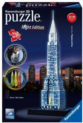Night Edition: Chrysler Building bei Nacht - 3D Gebäude Puzzle