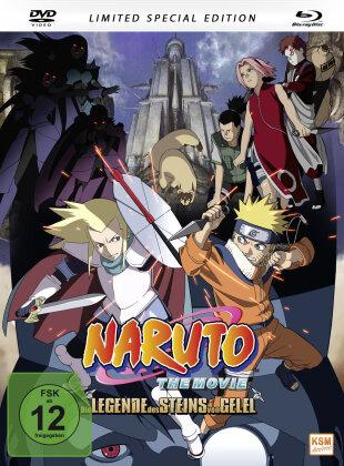 Naruto - The Movie - Die Legende des Steins von Gelel (2005) (Limited Special Edition, Mediabook, Blu-ray + DVD)