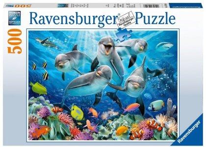 Delfin im Korallenriff - 500 Teile Puzzle