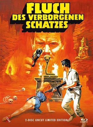 Fluch des verborgenen Schatzes (1982) (Cover A, Limited Edition, Mediabook, Uncut, Blu-ray + DVD)