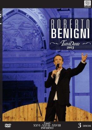 Roberto Benigni - Tutto Dante - Canti XXVI, XXVII, XXVIII Inferno (3 DVDs)