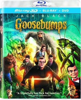 Goosebumps (2015) (Blu-ray 3D (+2D) + Blu-ray + DVD)