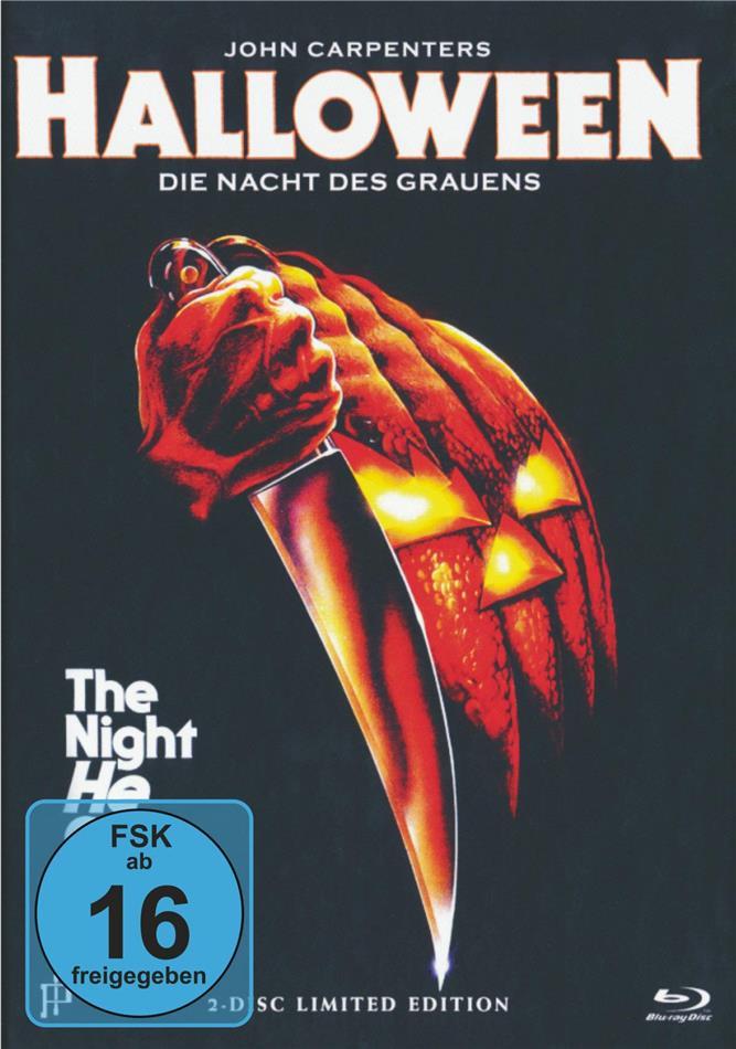Halloween - Die Nacht des Grauens (1978) (Cover A, Uncut, Limited Edition, Mediabook, Blu-ray + DVD)