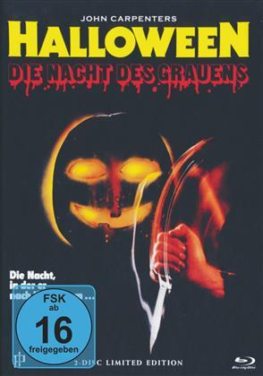 Halloween - Die Nacht des Grauens (1978) (Cover B, Uncut, Limited Edition, Mediabook, Blu-ray + DVD)