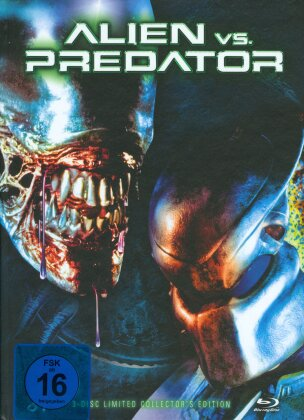 Alien vs. Predator (2004) (Cover D, Collector's Edition, Limited Edition, Mediabook, Blu-ray + 2 DVDs)