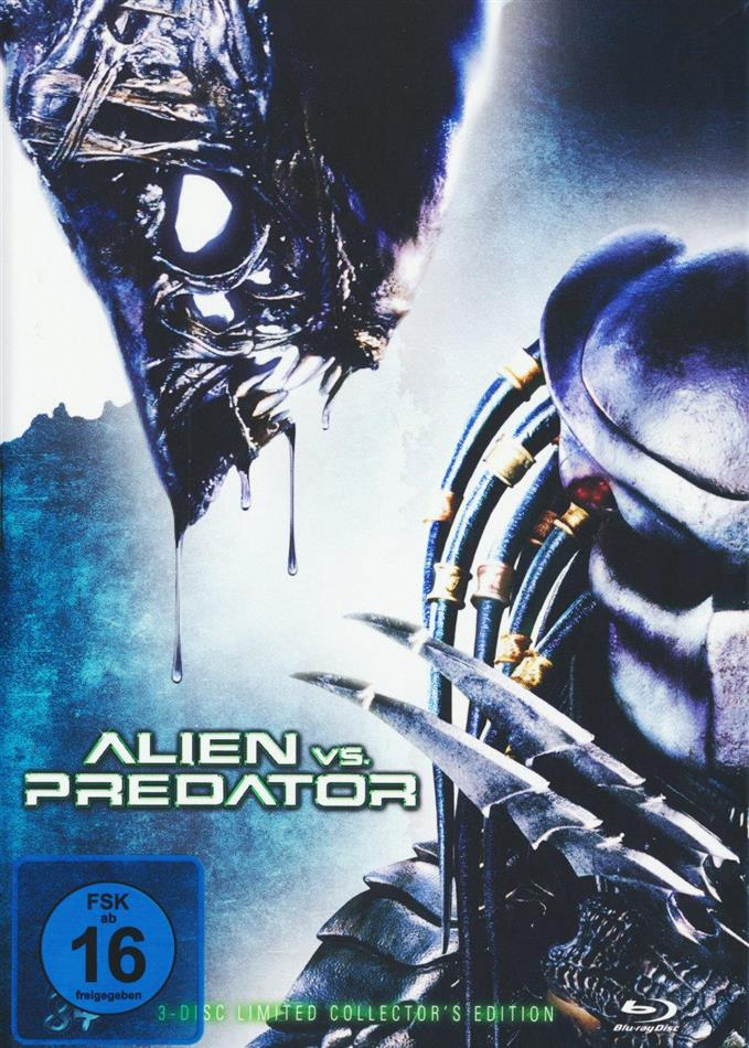 Alien vs. Predator (2004) (Cover A, Collector's Edition, Extended Edition, Kinoversion, Limited Edition, Mediabook, Blu-ray + 2 DVDs)