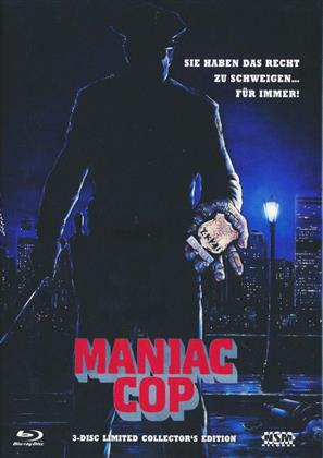 Maniac Cop (1988) (Cover B, Limited Collector's Edition, Mediabook, Blu-ray + 2 DVDs)
