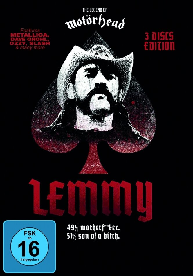 Lemmy Kilmister - Lemmy (Black Edition, 3 DVDs)