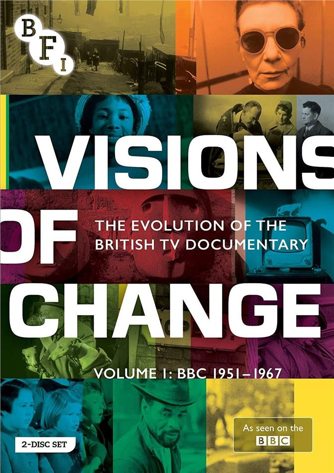 Visions of Change - The Evolution of the British TV Documentory - Vol. 1: BBC 1951-1967 (n/b, 2 DVD)