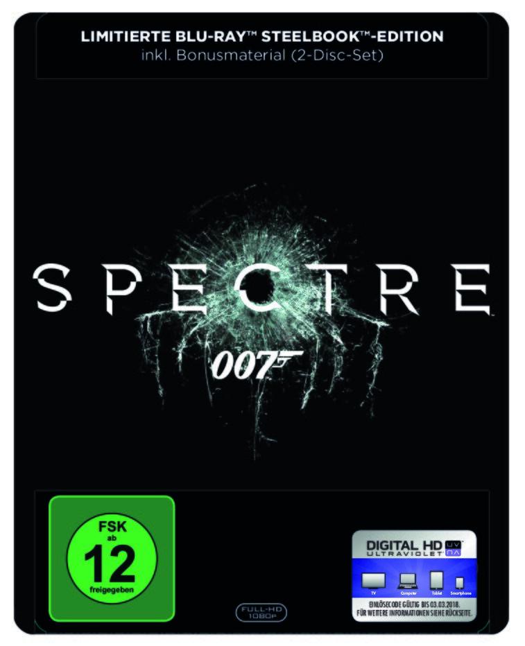 James Bond: Spectre (2015) (Limited Edition, Steelbook, Blu-ray + DVD)