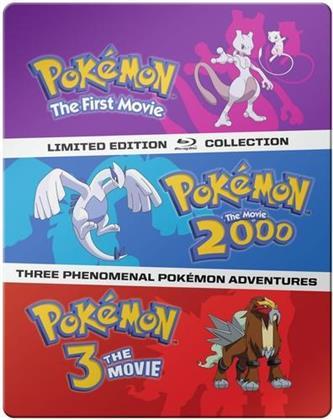 Pokémon: The Movies 1-3 - Pokémon: The First Movie / Pokémon: The Movie 2000 / Pokémon 3: The Movie (Limited Collector's Edition, Steelbook, 3 Blu-rays)