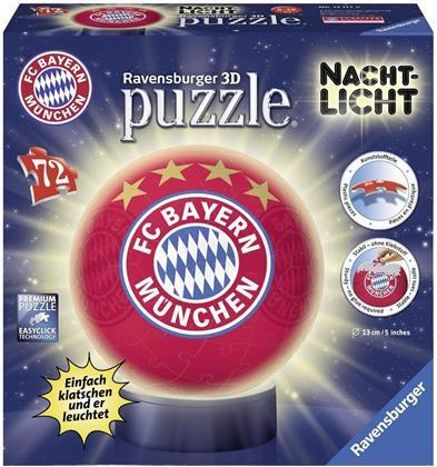FC Bayern München Nachtlicht - 72 Teile Puzzle-Ball