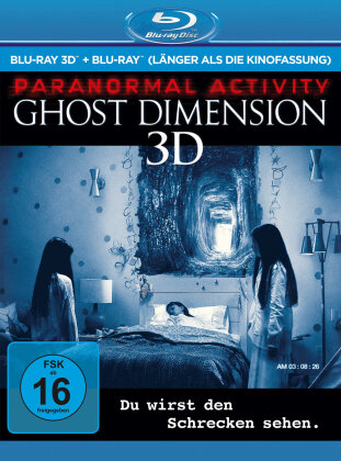 Paranormal Activity 5 - Ghost Dimension (2015) (Extended Edition, Kinoversion, Blu-ray 3D + Blu-ray)