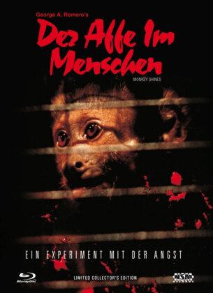 Der Affe im Menschen - Ein Experiment mit der Angst (1988) (Cover A, Limited Collector's Edition, Mediabook, Uncut, Blu-ray + DVD)