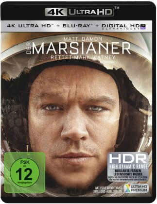 Der Marsianer - Rettet Mark Watney (2015) (4K Ultra HD + Blu-ray)