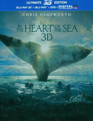 In the Heart of the Sea - Au coeur de l'Océan (2015) (Limited Ultimate Edition, Steelbook, Blu-ray 3D + Blu-ray + DVD)