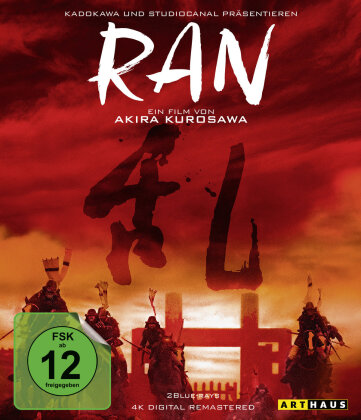 Ran (1985) (4K Digital Remastered, Arthaus, 2 Blu-rays)