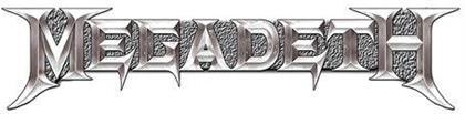 Megadeth Pin Motiv - Chrome Logo / Bunt