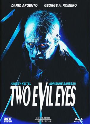 Two Evil Eyes (1990) (Cover B, Limited Edition, Mediabook, Uncut, Blu-ray + DVD)