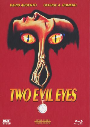 Two Evil Eyes (1990) (Cover A, Uncut, Limited Edition, Mediabook, Blu-ray + DVD)