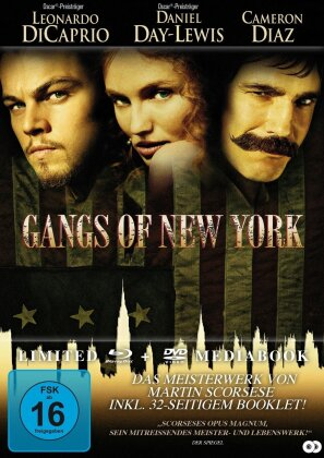 Gangs of New York (2002) (Limited Edition, Mediabook, Blu-ray + DVD)