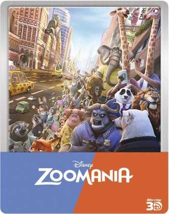 Zoomania (2016) (Steelbook, Blu-ray 3D + Blu-ray)