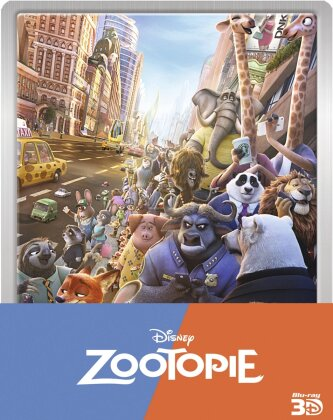 Zootopie (2016) (Steelbook, Blu-ray 3D + Blu-ray)