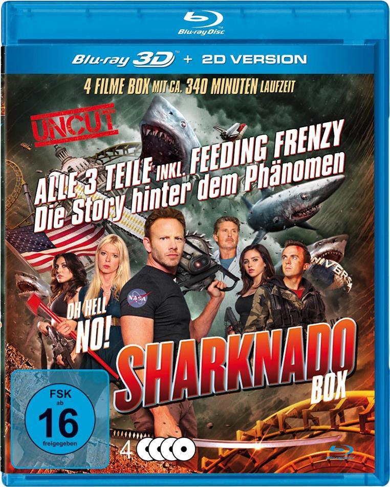 Sharknado Box (Special Collector's Edition, Uncut, 3 Blu-ray 3D (+2D) + DVD)