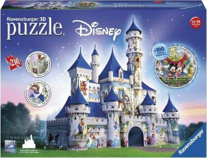 Walt Disney: Disney Schloss - 3D Gebäude Puzzle