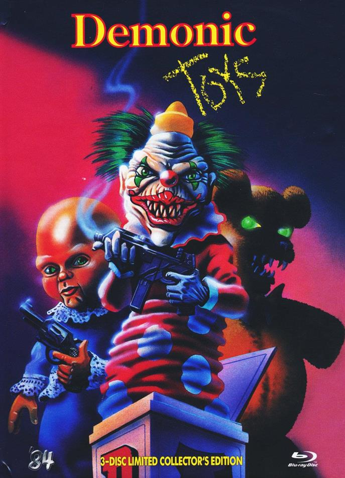 Demonic Toys (1992) (Cover B, US-Fassung, Collector's Edition, Director's Cut, Limited Edition, Uncut, Mediabook, Blu-ray + 2 DVDs)