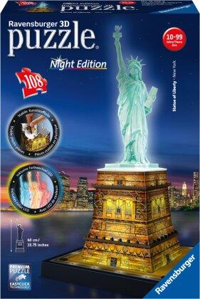 Night Edition: Freiheitsstatue - 3D Gebäude Puzzle