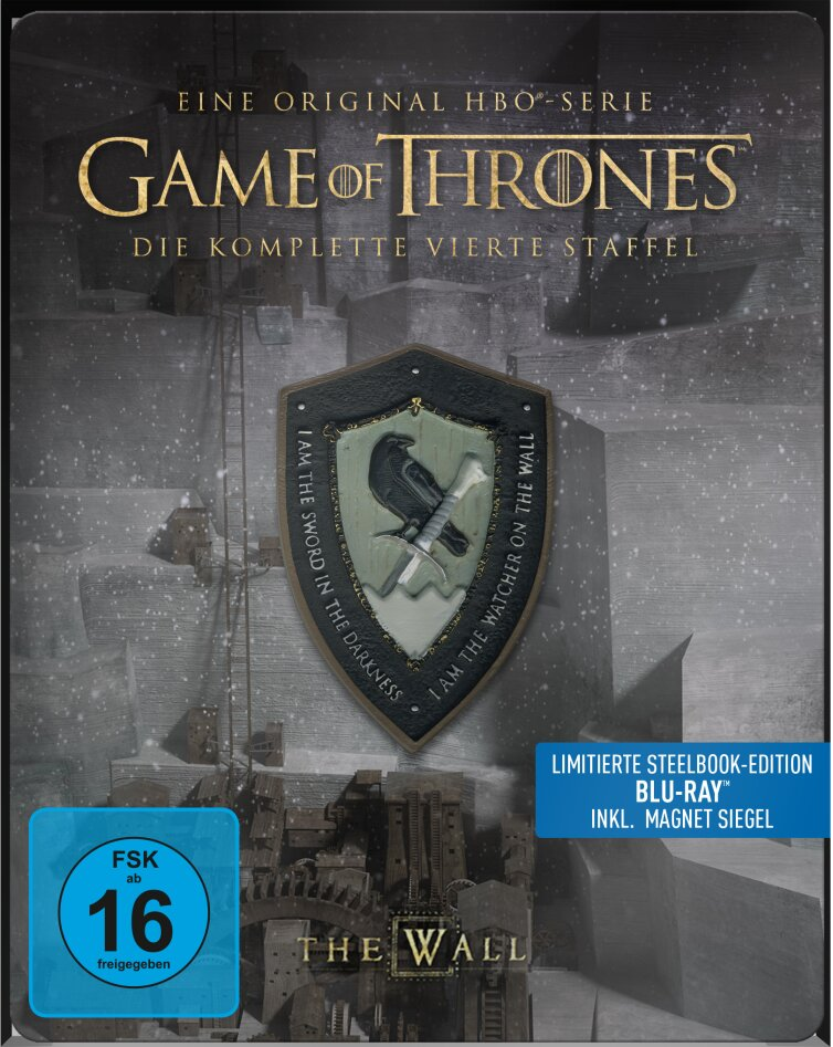 Game of Thrones - Staffel 4 (inkl. Magnet Siegel, Limited Edition, Steelbook, 4 Blu-rays)