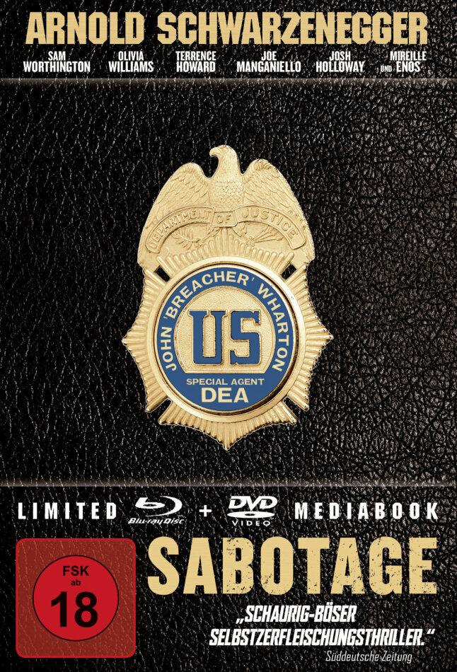 Sabotage (2014) (Limited Mediabook, Blu-ray + DVD)