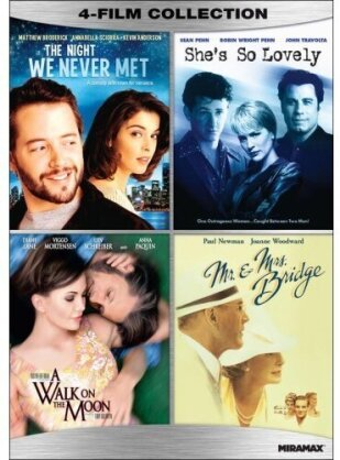 The Night We Never Met / She's So Lovely / A Walk On The Moon / Mr. And Mrs. Bridge - Romantic Comedy 4-Film Collection