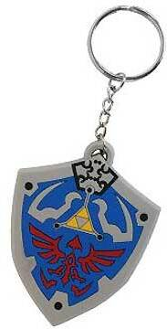 Porte-clef Rubber - Zelda PVC - bouclier d'Hyrule - 4 cm