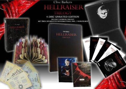 Hellraiser Trilogy (Lack-Box, Mediabook, Unrated, 4 Blu-rays)