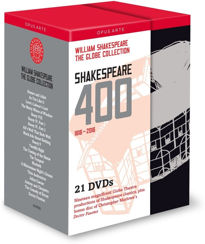 Shakespeare 400 (Opus Arte, Shakespeare's Globe, 21 DVDs) - Globe Theatre