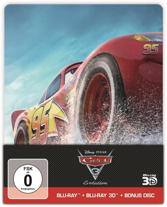 Cars 3 - Evolution (2017) (Edizione Limitata, Steelbook, Blu-ray 3D + 2 Blu-ray)