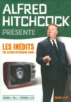 Alfred Hitchcock présente - Les inédits - The Alfred Hitchcock Hour - Saison 3, vol. 1, épisodes 1 à 15 (b/w, 5 DVDs)