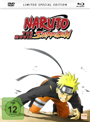 Naruto Shippuden - The Movie (2007) (Limited Special Edition, Mediabook, Blu-ray + DVD)