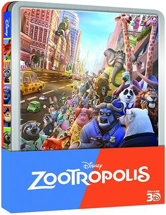 Zootropolis (2016) (Limited Edition, Steelbook, Blu-ray 3D + Blu-ray)