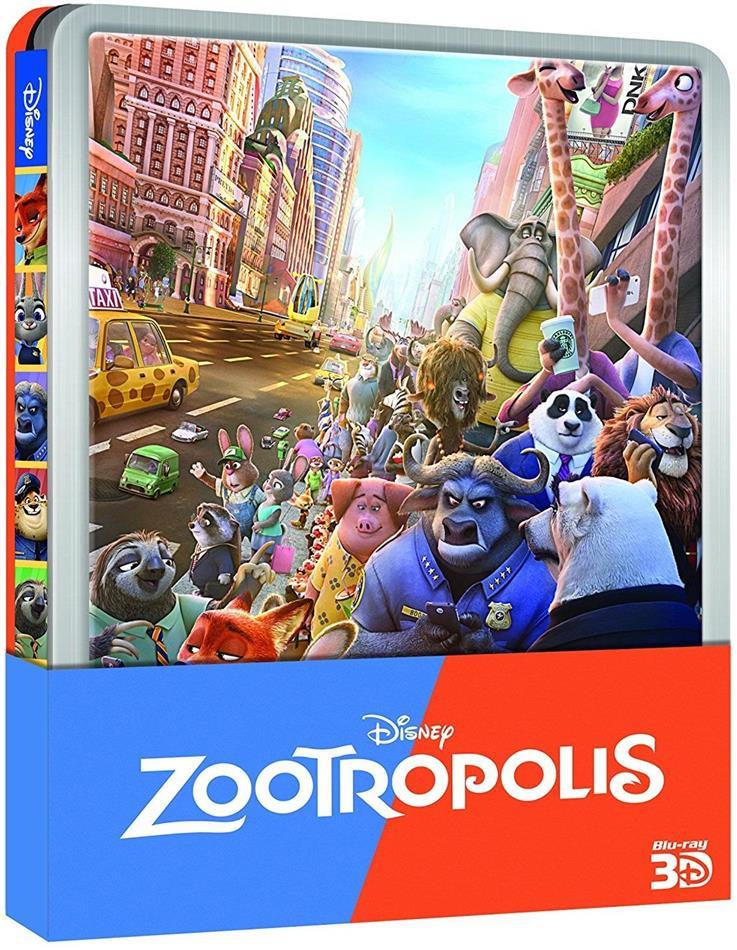 Zootropolis (2016) (Edizione Limitata, Steelbook, Blu-ray 3D + Blu-ray)